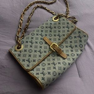Louis Vuitton Blue Monogram Satchel.